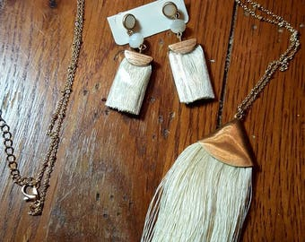 Tassel, long necklace WITH FREE EARRINGS!!!!!!!!!!