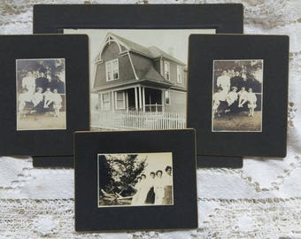 Vintage Photographs Family..House