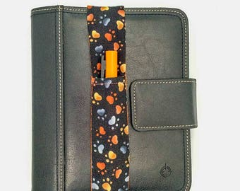 Paw Print Theme Pretty Pen Pocket Planner Band Pen Holder