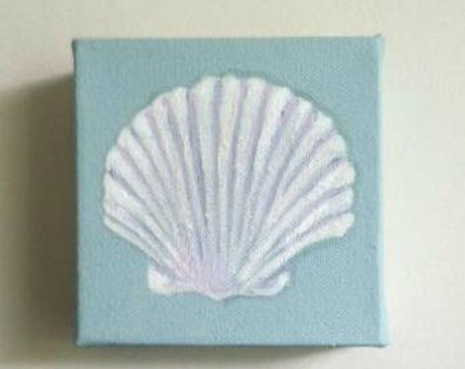 original Scallop Shell mini painting