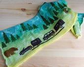 Sparkle sock Blank - Yellowstone with Bear