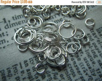 SALE 30% Off Silver Plated Jump Ring Mix 4-10mm 1 ounce about 200 pieces