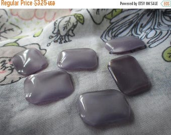 SALE 20% Off Purple Moonstone 18x13mm Octagon Glass Cabochons 6 Pcs
