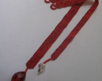 Book Marks, hand beaded in Red with a sparkle