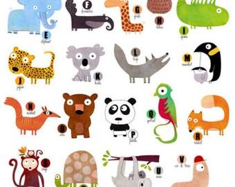 The enchanted animal alphabet