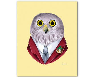 Powerful Owl print 8x10