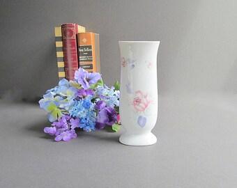 Vintage Flower Vase, Nursery Vase, Shabby Cottage Chic Vase, Small Vase