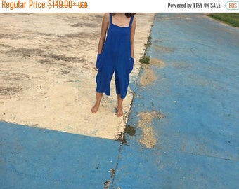 25% OFF Custom order/ Made to Fit Lavai Maria Oversized Overalls Romper- Linen, Raw Silk