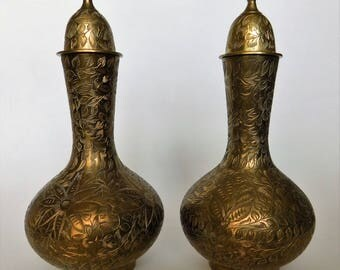 Brass Vases Made in INDIA Set of Two