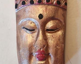 Handmade clay face  buddha head cabochon mosaic tile woman lady craft supplies  handmade cabochon  mosaics dolls jewelry craft parts