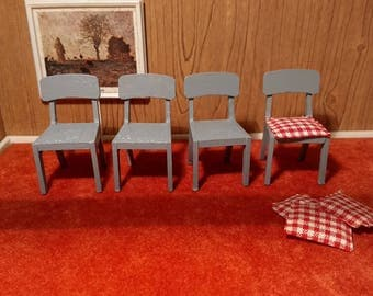 Four Vintage Lundby Casual Chairs Ready to Customize