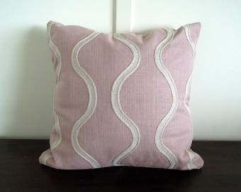 Blush Linen Pillow Covers, 16x16, Toss Cushions, Decorative Pillows, Contemporary Pillows, MCM Pillow, Pink Pillow Covers