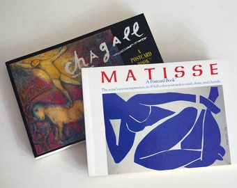 Art Postcard Books, Marc Chagall Henri Matisse, Fine Art Reproductions, Running Press, Fauvism Impressionism, Colorful Art Cards