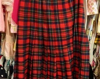1960s Pendleton Skirt Women's 10