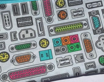 Computer Ports Zipper Pouch: Plug and Play, PC, Geekery.