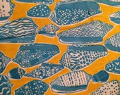 Fabric Key West Hand Prints  Sheila's Shells by Zuzek 44 inches wide  Half Yard All Cotton