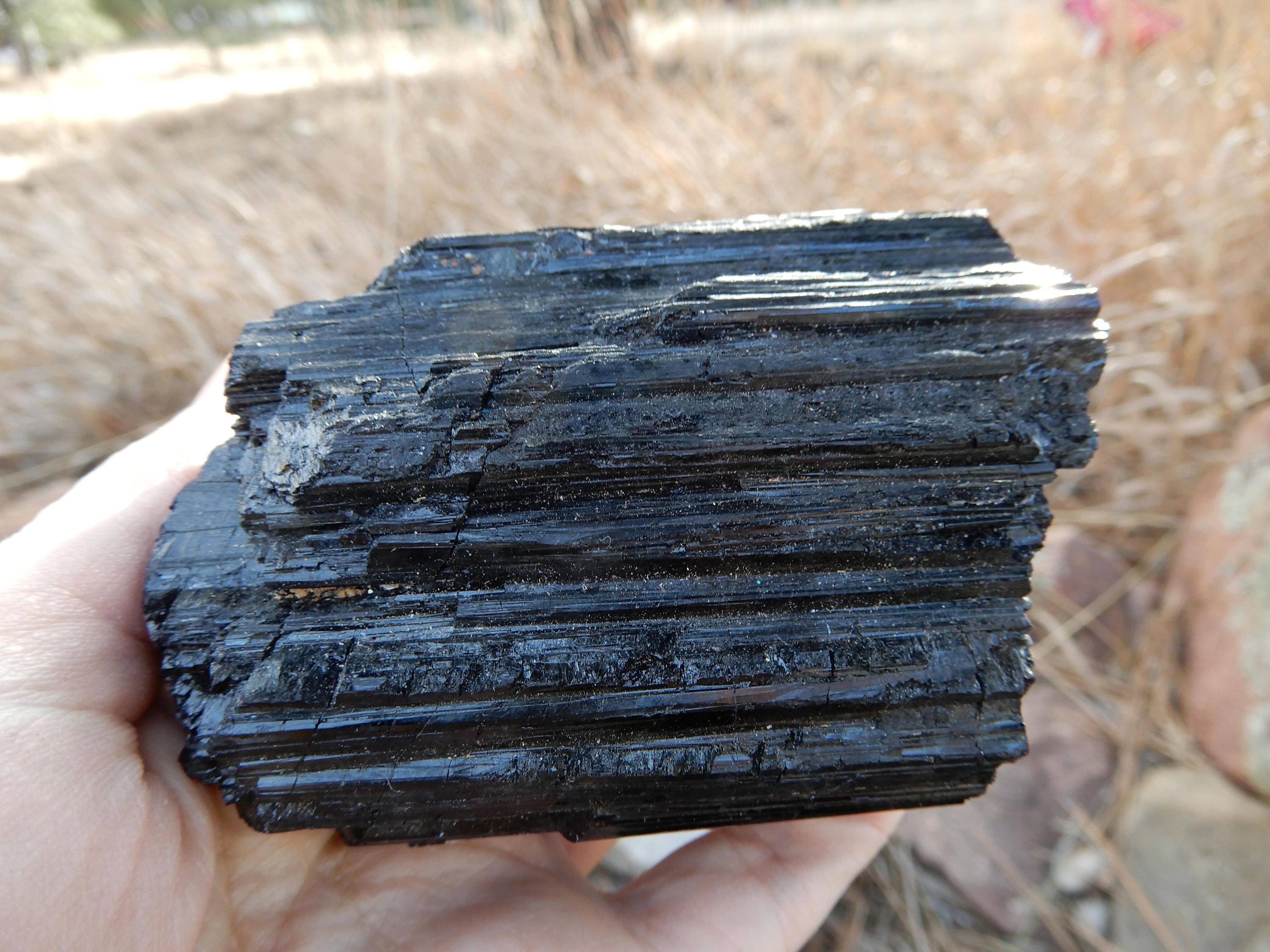 Large Black Tourmaline Chunk Of Black Tourmaline 3 1 2