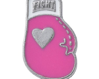 Pink Ribbon Boxing Glove Pin