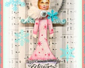 Apple Tree Cottage Original Design - Snow Angel Paintbrush Ornament