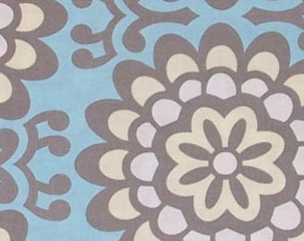 Amy Butler Fabric, Lotus Collection, Wallflower in Sky Blue, Cotton, Floral - FAT QUARTER