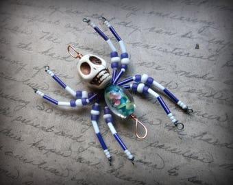 Skull Spider Ornament Suncatcher