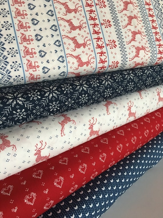 Christmas Fabric Christmas Quilt Fabric Nordic Stitches