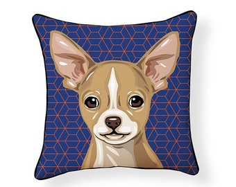 Pooch Decor Chihuahua Indoor/Outdoor Pillow