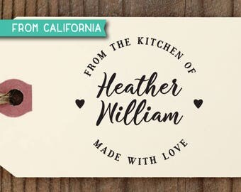 From the Kitchen of Stamp, Traditional Rubber Stamp OR Pre-Inked Stamp, Personalized Baking Gift, Kitchen Stamp, Gift for Mom, kitchen 5