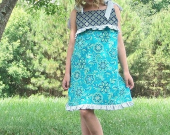 SALE Girls Sewing Pattern to make a Child's Play Dress Whimsy Couture 3 months - 12 girls PDF Instant