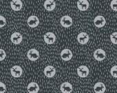 Dear Stella Fabric, Midnight Animals, 561 Ebony, 100% Cotton