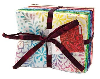 Moda Salsa Batiks Fat Quarter Bundle 35 FQs Precut Cotton Fabric Quilting 4345AB
