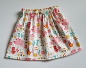 Flannel Skirt with Farm Animals, Farm Animal Skirt, Kids Clothes Girls Skirt Flannel Outfit Toddler Skirt Kids Flannel Clothes Winter Skirt