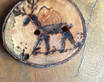 Wood branch buttons, wood burned buttons, button, unique buttons from nature, no additional shipping fee