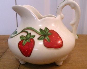 Strawberry Collectible creamer Farmhouse kitchen decor RDT ECS OFGteam SVFteam FVGteam