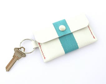 Keychain Wallet, Leather Card Holder, Mini Leather Wallet, Wallet on a Key Ring, Wallet on Sale, Discounted Wallet, Wallet on Sale