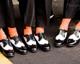 Specialty Color CORAL  Grooms Socks, Groomsmen Socks, Wedding Gift, Bridal Party