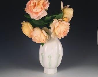 Handmade Handsome Porcelain Vase Fiddleheads