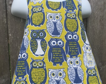 Pinafore Size 12M --- owl always love you