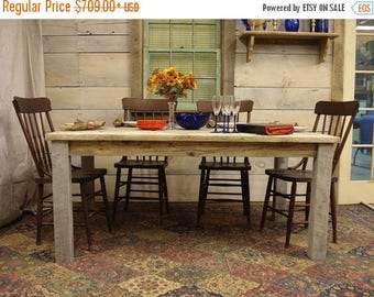 """Duff Sale Driftwood Table -  (80""""L x 35""""W x 30 or 36""""H) Custom request, new pictures soon"""