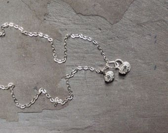 Herkimer Diamond Necklace - Raw Crystal Necklace -Bezel Necklace - Sterling Silver Necklace - Everyday Casual Necklace - Dainty Necklace