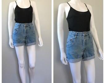 Vintage high rise jean shorts Arazona jean shorts 26 waist shorts
