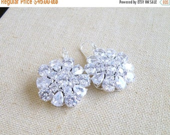 Summer Sale CZ Earrings Pear Cubic Zirconia BE2 Wedding Jewelry