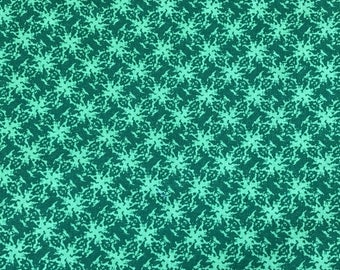 Over 2 Yards of Green Kaleidoscope Print Cotton Fabric from SSI