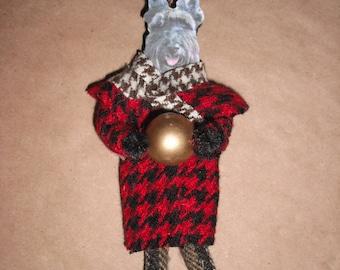 Handmade Scotty Dog Ornament - Scottie Dog- Scottish Terrier
