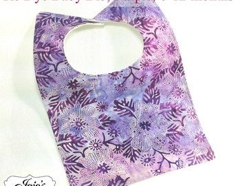 Tie Dye Baby Bib, Purple, Size: newborn to twelve months SKU #JJQS105