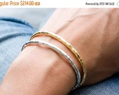 40% Off Silver and Plated Gold Raw Cuff Set