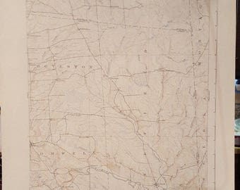 1934 Orwell, NY, Topography Map
