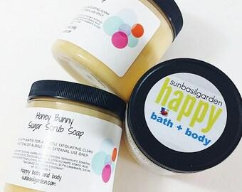 Honey Bunny  Emulsified Sugar Scrub Soap. Mothers Day Gift. Body Sugar Scrub. LARGE JAR. Mom Gift. Gift for Mom. Sugar Scrub. Women Gift