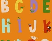 20% OFF Heather Ross Kinder Alphabet Orange