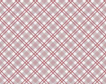 ON SALE Penny Rose Fabrics Gingham Girls By Amy Smart Plaid White